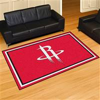 "Houston Rockets 5x8 Area Rug 60""x92"""