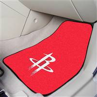 "Houston Rockets 2-Piece Carpeted Car Mats 18""x27"""