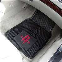 "Houston Rockets Heavy Duty 2-Piece Vinyl Car Mats 18""x27"""