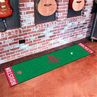 "Houston Rockets Putting Green Runner Mat 18""x72"""