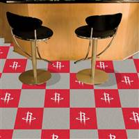 "Houston Rockets Carpet Tiles 18""x18"" Tiles, Covers 45 Sq. Ft."