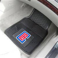 "Los Angeles Clippers Heavy Duty 2-Piece Vinyl Car Mats 18""x27"""