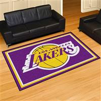 "Los Angeles Lakers 5x8 Area Rug 60""x92"""