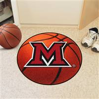 "Miami of Ohio Basketball Rug 29"" diameter"