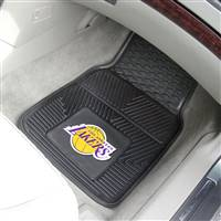 "Los Angeles Lakers Heavy Duty 2-Piece Vinyl Car Mats 18""x27"""
