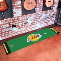 "Los Angeles Lakers Putting Green Runner Mat 18""x72"""