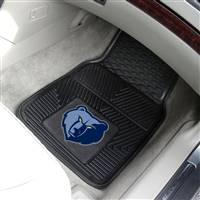 "Memphis Grizzlies Heavy Duty 2-Piece Vinyl Car Mats 18""x27"""
