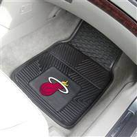 "Miami Heat Heavy Duty 2-Piece Vinyl Car Mats 18""x27"""