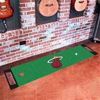 "Miami Heat Putting Green Runner Mat 18""x72"""