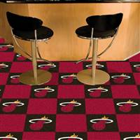 "Miami Heat Carpet Tiles 18""x18"" Tiles, Covers 45 Sq. Ft."