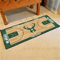 Milwaukee Bucks NBA Large Court Runner Mat 29.5x54