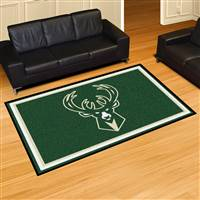 "Milwaukee Bucks 5x8 Area Rug 60""x92"""