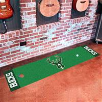 "Milwaukee Bucks Putting Green Runner Mat 18""x72"""