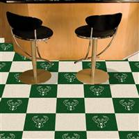 "Milwaukee Bucks Carpet Tiles 18""x18"" Tiles, Covers 45 Sq. Ft."