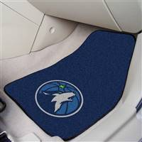 "Minnesota Timberwolves 2-Piece Carpeted Car Mats 18""x27"""