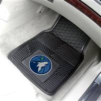 "Minnesota Timberwolves Heavy Duty 2-Piece Vinyl Car Mats 18""x27"""