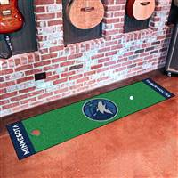 "Minnesota Timberwolves Putting Green Runner Mat 18""x72"""