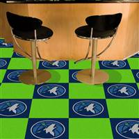 "Minnesota Timberwolves Carpet Tiles 18""x18"" Tiles, Covers 45 Sq. Ft."