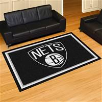 "Brooklyn Nets 5x8 Area Rug 60""x92"""