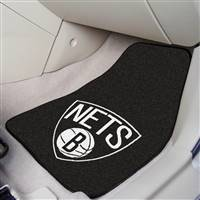 "Brooklyn Nets 2-Piece Carpeted Car Mats 18""x27"""