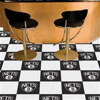 "Brooklyn Nets Carpet Tiles 18""x18"" Tiles, Covers 45 Sq. Ft."