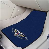 "New Orleans Hornets 2-Piece Carpeted Car Mats 18""x27"""