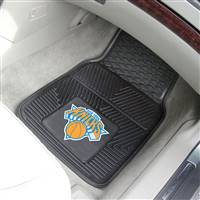 "New York Knicks Heavy Duty 2-Piece Vinyl Car Mats 18""x27"""