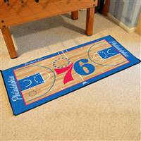 Philadelphia 76ers NBA Large Court Runner Mat 29.5x54