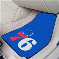 "Philadelphia 76ers 2-piece Carpeted Car Mats 18""x27"""