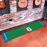 "Philadelphia 76ers Putting Green Runner Mat 18""x72"""
