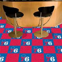 "Philadelphia 76ers Carpet Tiles 18""x18"" Tiles, Covers 45 Sq. Ft."