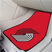 "Portland Trail Blazers 2-piece Carpeted Car Mats 18""x27"""