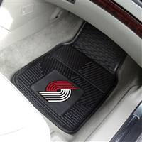 "Portland Trail Blazers Heavy Duty 2-Piece Vinyl Car Mats 18""x27"""