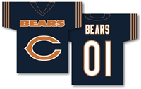 "Chicago Bears Jersey Banner 34"" x 30"" - 2-Sided"