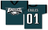 "Philadelphia Eagles Jersey Banner 34"" x 30"" - 2-Sided"