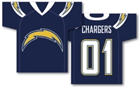 "San Diego Chargers Jersey Banner 34"" x 30"" - 2-Sided"