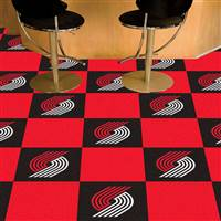 "Portland Trail Blazers Carpet Tiles 18""x18"" Tiles, Covers 45 Sq. Ft."