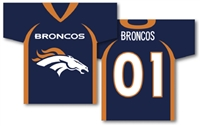 "Denver Broncos Jersey Banner 34"" x 30"" - 2-Sided"