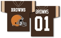 "Cleveland Browns Jersey Banner 34"" x 30"" - 2-Sided"