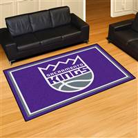 "Sacramento Kings 5x8 Area Rug 60""x92"""