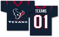 "Houston Texans Jersey Banner 34"" x 30"" - 2-Sided"