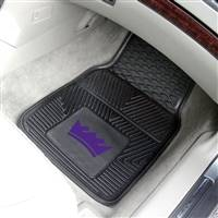 "Sacramento Kings Heavy Duty 2-Piece Vinyl Car Mats 18""x27"""