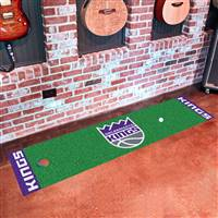 "Sacramento Kings Putting Green Runner Mat 18""x72"""