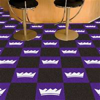 "Sacramento Kings Carpet Tiles 18""x18"" Tiles, Covers 45 Sq. Ft."