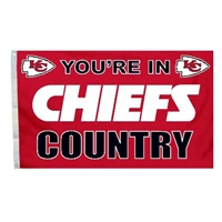 Kansas City Chiefs 3 Ft. X 5 Ft. Flag W/Grommetts