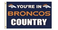 Denver Broncos 3 Ft. X 5 Ft. Flag W/Grommetts