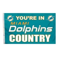 Miami Dolphins 3 Ft. X 5 Ft. Flag W/Grommetts