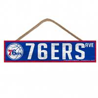 Philadelphia 76ers Sign 4x17 Wood Avenue Design - Special Order