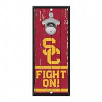 USC Trojans Sign Wood 5x11 Bottle Opener
