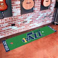 "Utah Jazz Putting Green Runner Mat 18"" x 72"""